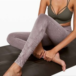 Lululemon Inner Glow Tights Cotton Ruched Leggings